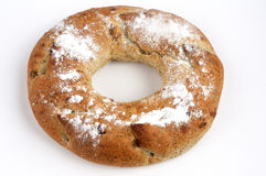 Wholemeal round bread stock image