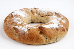 Wholemeal round bread Royalty Free Stock Images