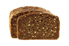 Wholemeal Rye Bread isolated on white Royalty Free Stock Images