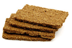 Wholemeal and rye diet crackers Royalty Free Stock Images