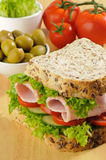 Wholemeal Sandwich Stock Photography