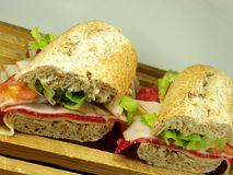 Wholemeal sandwich Royalty Free Stock Photos