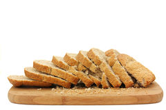 Wholemeal sliced bread isolated Royalty Free Stock Images
