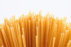 Wholemeal spaghetti Stock Images