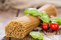 Wholemeal Spaghetti Stock Photography