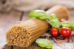 Wholemeal Spaghetti Stock Photography