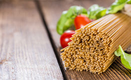 Wholemeal Spaghetti Stock Photo