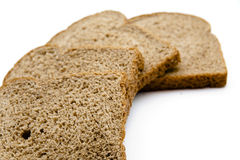 Wholemeal toast bread. On white background Royalty Free Stock Photography