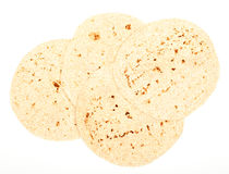 Wholemeal tortilla bread Stock Images