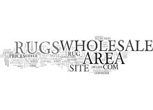 Wholesale Area Rugs Word Cloud royalty free illustration