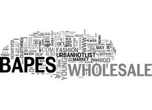 Wholesale Bapes Word Cloud Royalty Free Stock Photography
