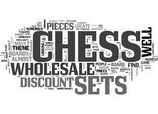 Wholesale Chess Sets And Parts Word Cloud Stock Photo