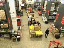 Wholesale food supermarket overview seen from above. Copenhagen, Denmark - April 19, 2019 stock photos