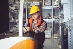 Wholesale, logistic, people and export concept. Close-up picture Stock Photos