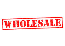 WHOLESALE. Red Rubber Stamp over a white background vector illustration