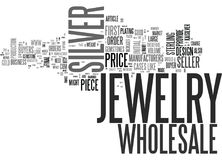 Wholesale Silver Jewelry Word Cloud. WHOLESALE SILVER JEWELRY TEXT WORD CLOUD CONCEPT Stock Photo