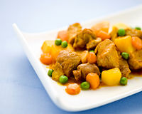 Wholesome beef stew with vegetables Stock Photo