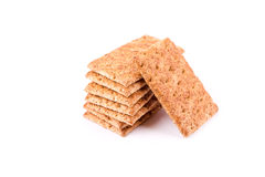 Wholesome biscuits with cereal isolated on white. Royalty Free Stock Photo