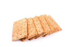 Wholesome biscuits with cereal isolated on white. Stock Photo
