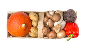 Wholesome food basket Royalty Free Stock Photography