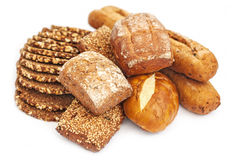 Wholewheat ψωμί και μπισκότο Στοκ Εικόνες