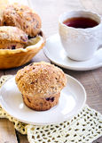 Wholewheat berry muffins Stock Photo