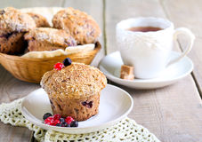 Wholewheat berry muffins Royalty Free Stock Image