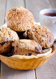 Wholewheat berry muffins Royalty Free Stock Photography