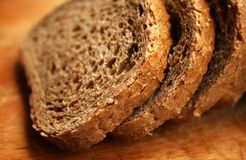 Wholewheat bread Stock Images