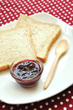 Wholewheat Bread with jam Royalty Free Stock Photos