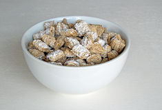 Wholewheat cereal bowl Royalty Free Stock Image