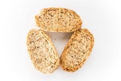 Wholewheat chips w bielu odizolowywającym Zdjęcie Stock