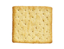 Wholewheat cracker isolated on white background Stock Images