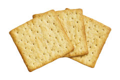 Wholewheat crackers isolated on white background Stock Image