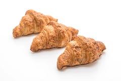 Wholewheat croissant on white background. Wholewheat croissant  on white background Royalty Free Stock Photos
