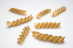 Wholewheat pasta propeller Royalty Free Stock Photography