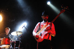 WhoMadeWho band performs at Music Hall Stock Images