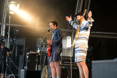 Whomadewho (band) performs at Sonar Festival Stock Image