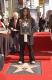 Whoopi Goldberg. Actress WHOOPI GOLDBERG on Hollywood Blvd where she was honored with the 2,186th star on the Hollywood Walk of Fame. Today is also her 46th Stock Photography