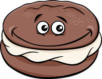 Whoopie pie cartoon illustration Royalty Free Stock Image