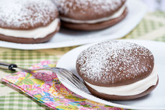 Whoopie pie chocolate cakes Royalty Free Stock Photography