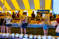 Whoopie Pie Festival Tent. Ronks, PA - September 10, 2016: Shopping for the perfect Whoopie at the Whoopie Pie Festival at Hershey Farms near Strasburg Stock Photography
