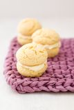 Whoopie Pie In Pink Bow Royalty Free Stock Images