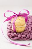 Whoopie Pie In Pink Bow Stock Images