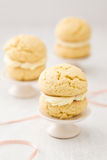 Whoopie pies with cream frosting Stock Photography