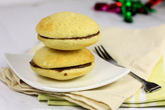 Whoopie Pies on a plate Royalty Free Stock Photos