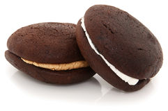 Whoopie Pies On White Background Stock Photo