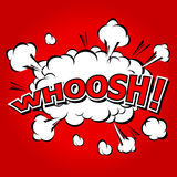 WHOOSH !- Comic Speech Bubble, Cartoon. Royalty Free Stock Photography