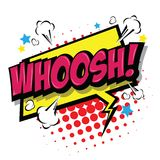 WHOOSH ! Comic Speech Bubble. Vector Eps 10. Royalty Free Stock Photo
