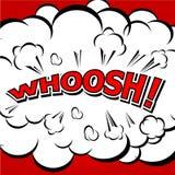 WHOOSH! - Komische Sprache-Blase, Karikatur. Lizenzfreie Stockfotografie